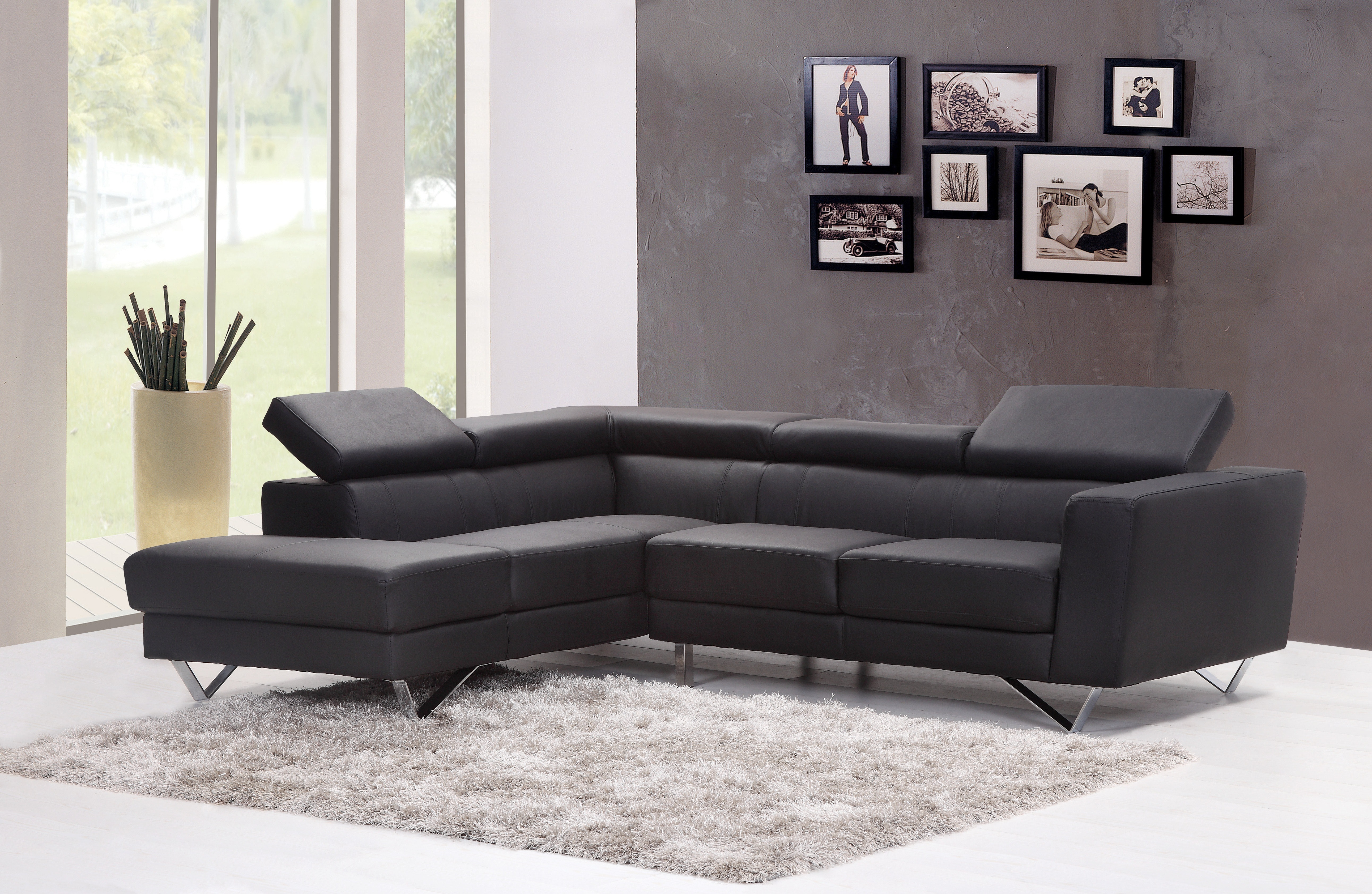 grey couch in the lounge area